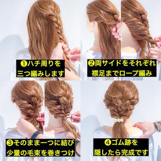 ロング 簡単ヘアアレンジ ヘアアレンジ エレガント ヘアスタイルや髪型の写真・画像