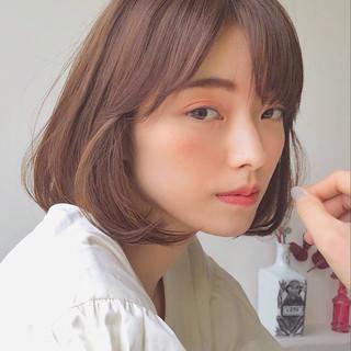 韓国ヘア ブラウンベージュ ナチュラル ベージュ ヘアスタイルや髪型の写真・画像