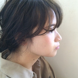 簡単ヘアアレンジ ハイライト ミディアム 外国人風 ヘアスタイルや髪型の写真・画像