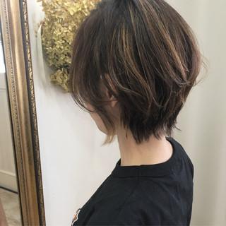 ハイライト 夏 大人ショート ショート ヘアスタイルや髪型の写真・画像