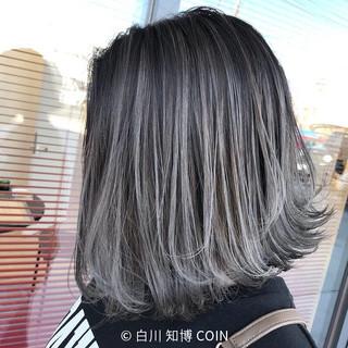 切りっぱなしボブ グラデーションカラー ボブ ハイライト ヘアスタイルや髪型の写真・画像 ヘアスタイルや髪型の写真・画像