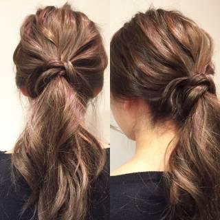 ショート ポニーテール ヘアアレンジ ローポニーテール ヘアスタイルや髪型の写真・画像 ヘアスタイルや髪型の写真・画像