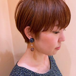 前髪 ナチュラル ショート ばっさり ヘアスタイルや髪型の写真・画像