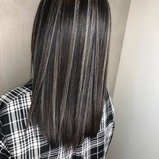 外国人風カラー バレイヤージュ ストリート ハイライト ヘアスタイルや髪型の写真・画像