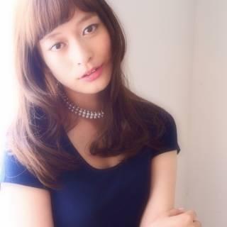 オン眉 外国人風 モテ髪 コンサバ ヘアスタイルや髪型の写真・画像