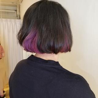 デザインカラー モード 塩基性 ピンク ヘアスタイルや髪型の写真・画像