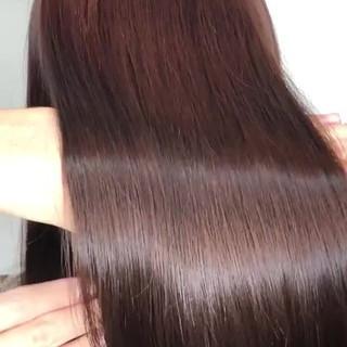 ナチュラル 髪質改善カラー セミロング 髪質改善トリートメント ヘアスタイルや髪型の写真・画像