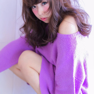 かわいい 大人かわいい 色気 ガーリー ヘアスタイルや髪型の写真・画像