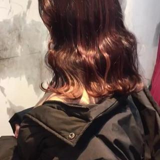 ヘアアレンジ フェミニン レッド オルチャン ヘアスタイルや髪型の写真・画像
