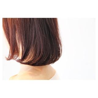 セミロング ボブ グラデーションカラー ナチュラル ヘアスタイルや髪型の写真・画像