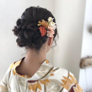 大人かわいい フェミニン デート 和装 ヘアスタイルや髪型の写真・画像 ヘアスタイルや髪型の写真・画像