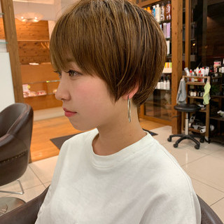 ふんわり ショートヘア 大人可愛い ふんわりショート ヘアスタイルや髪型の写真・画像