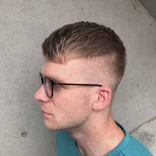 スキンフェード フェードカット メンズカット ストリート ヘアスタイルや髪型の写真・画像