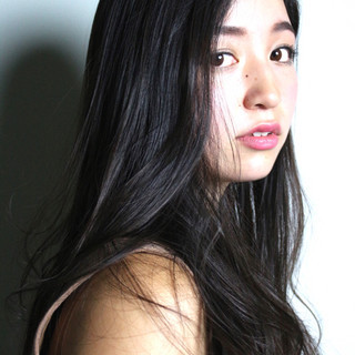 暗髪 アッシュ ピュア ナチュラル ヘアスタイルや髪型の写真・画像 ヘアスタイルや髪型の写真・画像