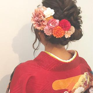 簡単ヘアアレンジ フェミニン 袴 ヘアアレンジ ヘアスタイルや髪型の写真・画像