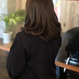 セミロング ナチュラル 春 外国人風カラー ヘアスタイルや髪型の写真・画像