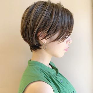 モード オフィス ショート 簡単ヘアアレンジ ヘアスタイルや髪型の写真・画像