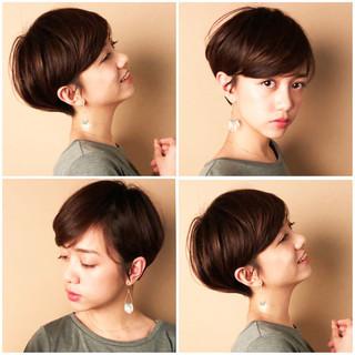 ショートボブ 小顔ショート ショートヘア ハンサムショート ヘアスタイルや髪型の写真・画像