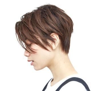 ショート オフィス ナチュラル 簡単ヘアアレンジ ヘアスタイルや髪型の写真・画像