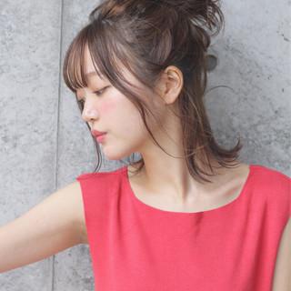 おフェロ 秋 ミディアム 簡単ヘアアレンジ ヘアスタイルや髪型の写真・画像