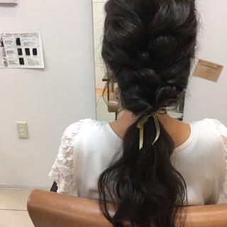 フェミニン ラフ ロング 簡単ヘアアレンジ ヘアスタイルや髪型の写真・画像