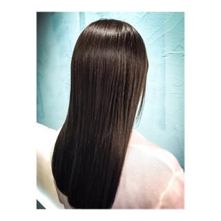 アッシュ ナチュラル ロング ブルー ヘアスタイルや髪型の写真・画像 ヘアスタイルや髪型の写真・画像