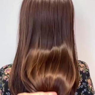トリートメント 髪質改善トリートメント 艶髪 セミロング ヘアスタイルや髪型の写真・画像