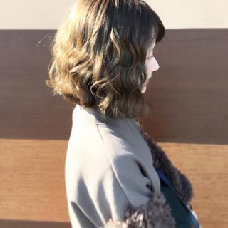 モテ髪 外国人風カラー 透明感 ミディアム ヘアスタイルや髪型の写真・画像