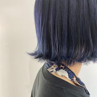 韓国ヘア ブルージュ ブルーアッシュ ナチュラル ヘアスタイルや髪型の写真・画像