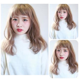 ゆるふわ ナチュラル セミロング フェミニン ヘアスタイルや髪型の写真・画像 ヘアスタイルや髪型の写真・画像
