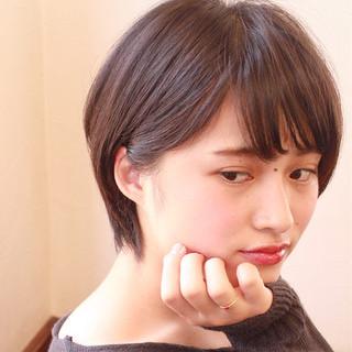 ヘアアレンジ ショート 暗髪 大人女子 ヘアスタイルや髪型の写真・画像