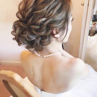 大人女子 エレガント 結婚式 上品 ヘアスタイルや髪型の写真・画像