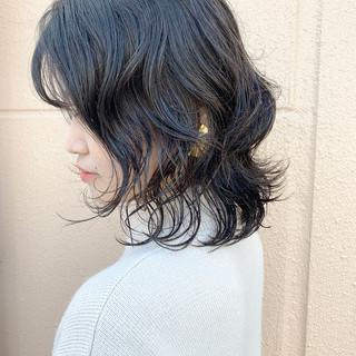 ゆるふわパーマ N.オイル ウルフカット ミディアム ヘアスタイルや髪型の写真・画像