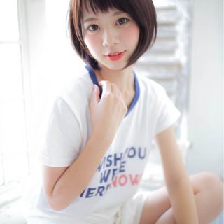 透明感 ショート 梅雨 女子会 ヘアスタイルや髪型の写真・画像