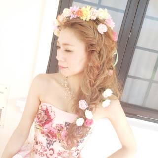 ヘアアレンジ 結婚式 ナチュラル 大人かわいい ヘアスタイルや髪型の写真・画像