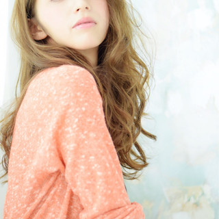 アッシュ 外国人風 ハイライト ロング ヘアスタイルや髪型の写真・画像