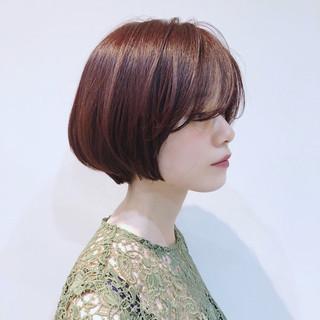 オーガニックカラー ボブ デート 透明感 ヘアスタイルや髪型の写真・画像