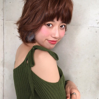 パーマ 色気 外国人風 ボブ ヘアスタイルや髪型の写真・画像