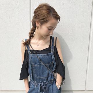 女子会 夏 涼しげ 簡単ヘアアレンジ ヘアスタイルや髪型の写真・画像