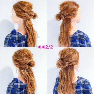 ヘアアレンジ アウトドア 簡単ヘアアレンジ ロング ヘアスタイルや髪型の写真・画像 ヘアスタイルや髪型の写真・画像