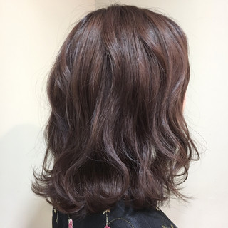 グレージュ ミディアム ラベンダー アッシュ ヘアスタイルや髪型の写真・画像 ヘアスタイルや髪型の写真・画像