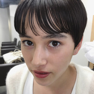 前髪パーマ ナチュラル ショートボブ ショートヘア ヘアスタイルや髪型の写真・画像