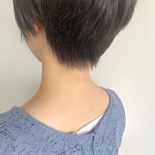 ベリーショート インナーカラー ショート ナチュラル ヘアスタイルや髪型の写真・画像