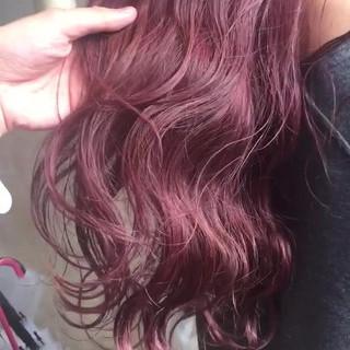 ピンクバイオレット デート ヘアアレンジ 透明感カラー ヘアスタイルや髪型の写真・画像