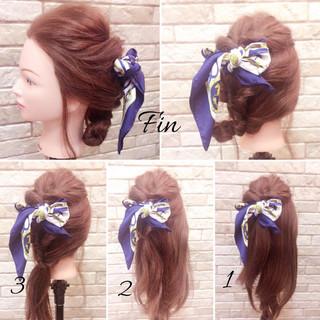 ナチュラル 簡単ヘアアレンジ ヘアアレンジ ヘアアクセ ヘアスタイルや髪型の写真・画像 ヘアスタイルや髪型の写真・画像