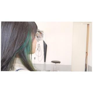 ナチュラル ロング ダブルカラー インナーカラー ヘアスタイルや髪型の写真・画像