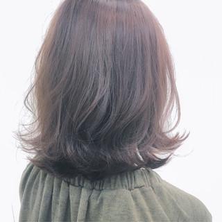 暗髪 透明感 グレージュ 冬 ヘアスタイルや髪型の写真・画像