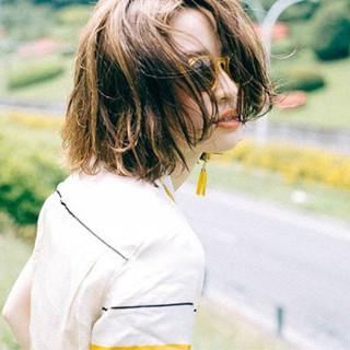 涼しげ 外国人風 夏 ストリート ヘアスタイルや髪型の写真・画像