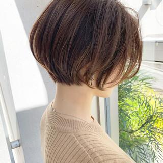 大人ショート ナチュラル ショート ハンサムショート ヘアスタイルや髪型の写真・画像