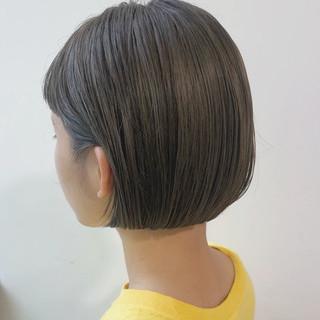 ショートボブ オフィス モテボブ ミニボブ ヘアスタイルや髪型の写真・画像